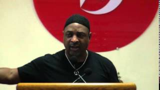 Chuck D speaks at Muhammad Mosque No.7 on Rosenberg and HOT97 part 2