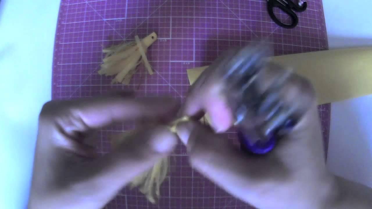 Cómo hacer guirnalda de borlones. Tutorial