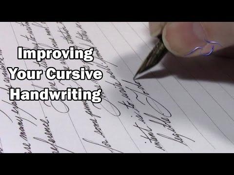 Improving Your Cursive Handwriting