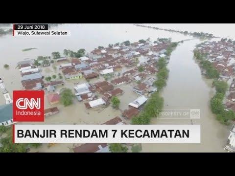Banjir Rendam 7 Kecamatan di Wajo, Sulawesi Selatan