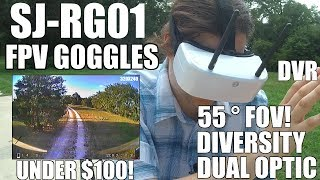 SJ-RG01 Dual-Optic FPV Goggles with DVR! (Best Cheap FPV Goggles?)