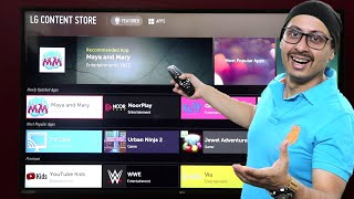 LG 4K Smart TV Content Store | All the Applications | Jio TV ? | How to add more Apps ? (Hindi)
