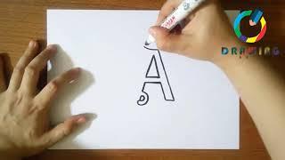 🔴How To Draw Illuminated Letters | كيفية رسم الحروف المضيئة
