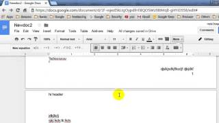 How to insert a blank page in document in Google Docs