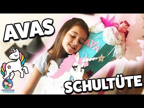 Avas Schultüte zur Einschulung🎉 Ava packt ihre Schultüte aus, was ist da alles drin?