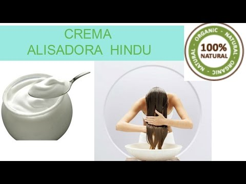 CREMA ALISADORA CASERA DE LA INDIA - 100% NATURAL