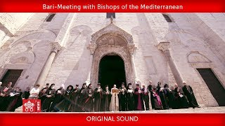 Pope Francis-Bari-Meeting with Bishops of the Mediterranean 2020-02-23