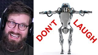 Try Not to Laugh at This ROBOT ( Reaction )