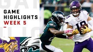 Vikings vs. Eagles Week 5 Highlights | NFL 2018