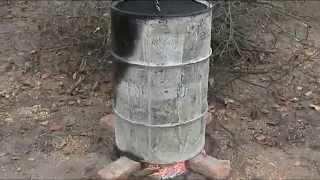 Как сжигать мокрые ветки и дрова.