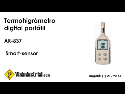 Termo higrómetro digital portátil  AR-837 smart-sensor
