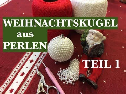 T: 1/2. WEIHNACHTSKUGEL AUS PERLEN FÜR ANFÄNGER /DIY/ Häkeln mit Perlen /Schritt für Schritt.