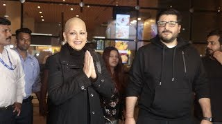 Sonali Bendre Looks So Happy & Changed As She Finally Comes Back To Family After Treatment In USA