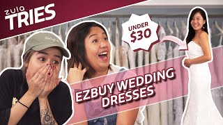 Taobao & Ezbuy Wedding Dresses Under $30 | ZULA Tries | EP 31