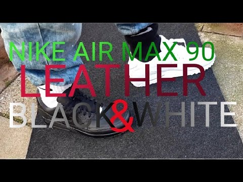 Nike Air Max 90 LEATHER One Black One White Funny Review & ARTY OnFoot