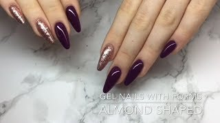 Almond Shaped Gel Nails With Forms - Crispynails ♡