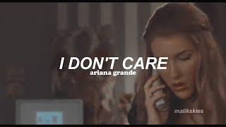 Ariana Grande - I Don't Care (Traducida al español)