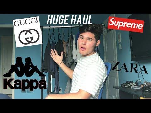 MENS BACK TO SCHOOL CLOTHING HAUL 2017 | Gucci, Kappa, Supreme, Zara, etc