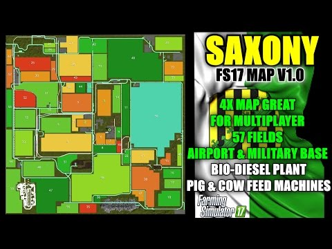 Saxony 4X Map, 57 Fields, mods built in