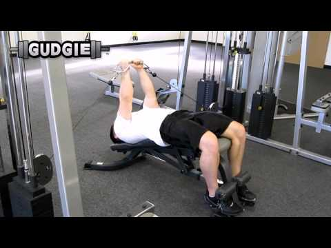 Cable decline bench fly (Gudgie)