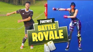 AMAZING FORTNITE CELEBRATIONS IN FOOTBALL (Fortnite Battle Royale)