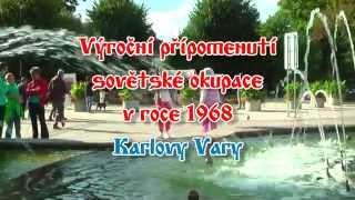 preview picture of video '46.výroční připomenutí sovětské okupace - Karlovy Vary'