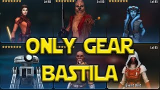 Unlocked Revan With Undergeared Characters - Only Gear Bastila - Star Wars: Galaxy Of Heroes - SWGOH