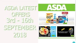 Asda Latest Offers 3rd To 16th September 2018