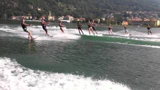 preview picture of video 'Wakeboarding  10 Riders achter Mastercraft X2ss'