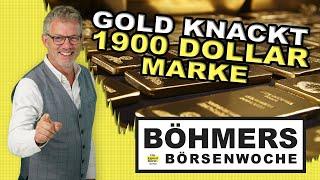 Der Goldpreis knackt endlich wieder die 1.900 Dollar Marke