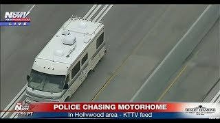 BREAKING: Police chase suspect in RV in Hollywood, CA (FNN)