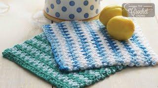 Crochet Moss Stitch Dishcloth Pattern
