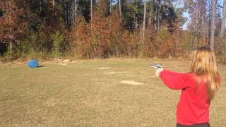 Alyssa shooting a pistol 2014