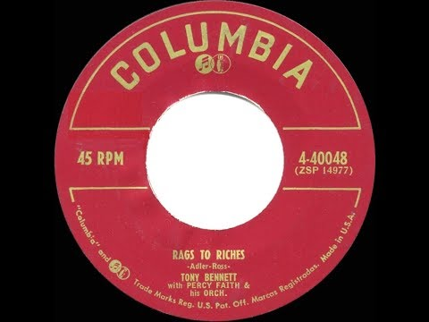 1953 HITS ARCHIVE: Rags To Riches - Tony Bennett (a #1 record)