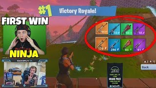 I Only Used Ninja's FIRST WIN Guns In Fortnite... (so Difficult)