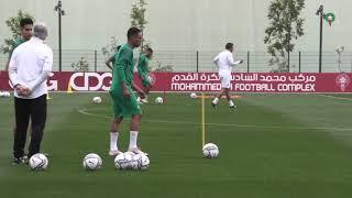 حصة تدريبية مسائية للمنتخب المغربي بعد لقاء موريتانيا وإستعدادا لمباراة بوروندي