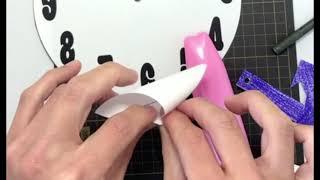 時計の無料おもちゃペーパークラフト工作作り方動画