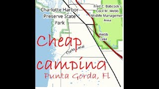 Almost free Florida camping: Babcock Webb WMA campground tour Punta Gorda Florida