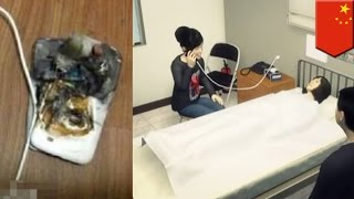 Mobile phone battery explosion: Girl's phone explodes in her face while talking - TomoNews