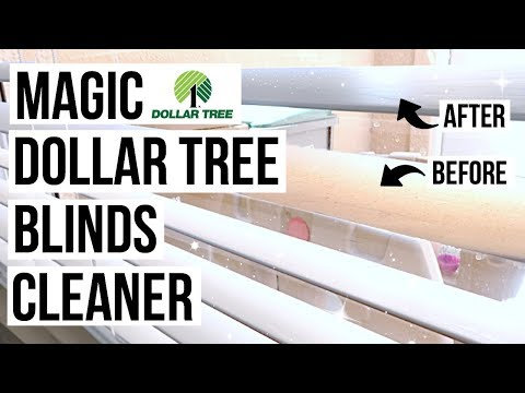 DIY MAGIC BLINDS CLEANER // Dollar Tree Cleaning Hack