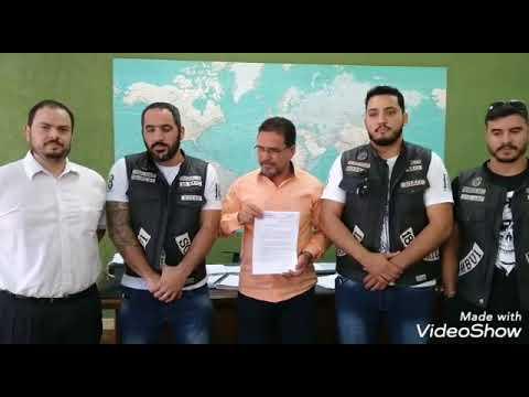 Motociclistas Insanos agradecem ao Prefeito cessão do Portal Turístico