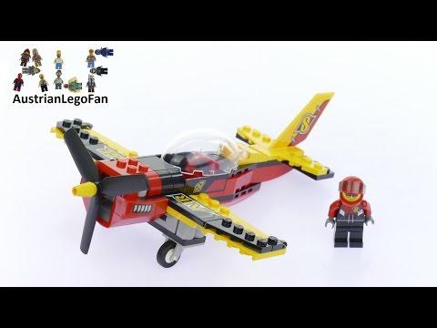 Vidéo LEGO City 60144 : L'avion de course