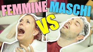 MASCHI vs FEMMINE DAL PARRUCCHIERE