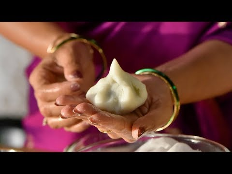 How to Make Modak | Traditional Steamed Modak Recipe | Coconut Dumplings | Ganesh Chaturthi Special