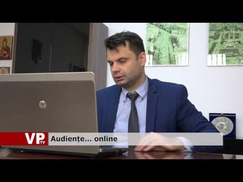 Audiențe… online