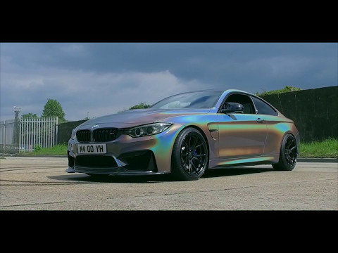 BMW M4 3M Gloss Flip Psychedelic Wrap