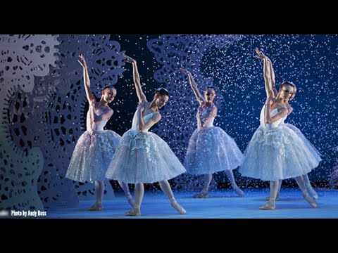 Scottosh Ballet dancers wearing laser cut fabric costumes