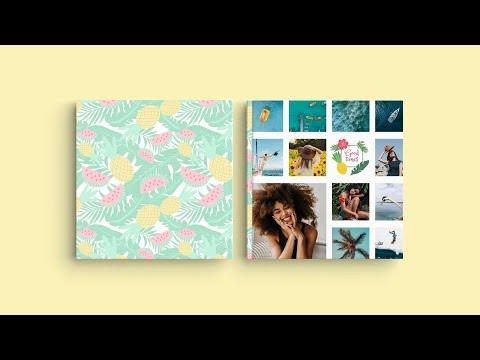 Inspiration pour la couverture de votre livre photo - 'Mes vacances d'été'
