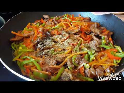 Фунчоза с мясом как приготовить легко и просто