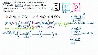 Limiting Reactant: Mass To Mass - Practice - 1